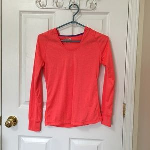 ⭐️ 2/$20 Coral Work Out Hooded Long Sleeve
